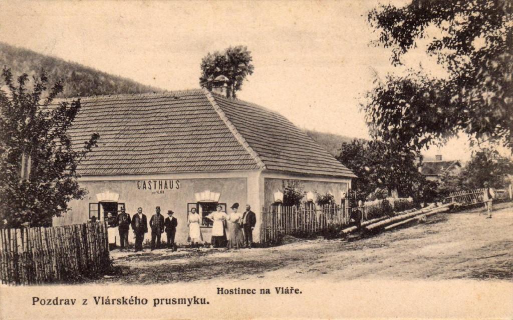 Hostinec Vlára na počátku 20. století.